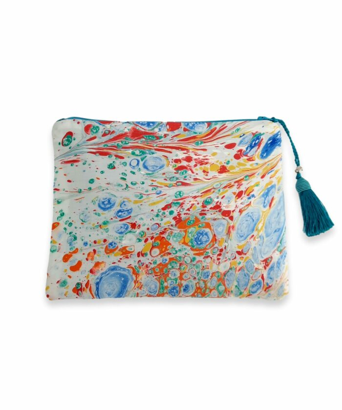 Initial pouch coton satin